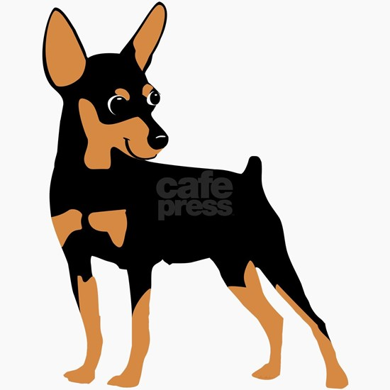 Cartoon Miniature Pinscher 1