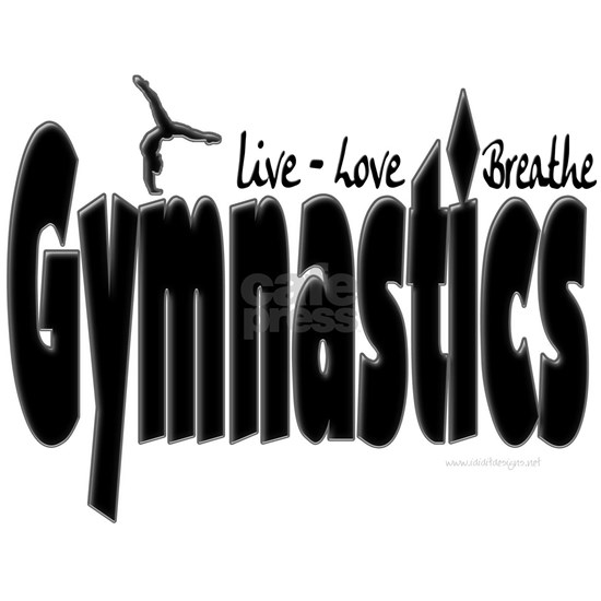 live love breathe gymnastics black