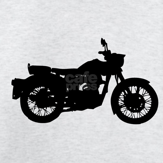 Vintage Motorcycle Silhouette