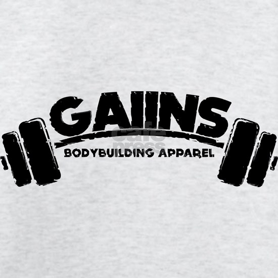 GAIINS Barbell Logo Black