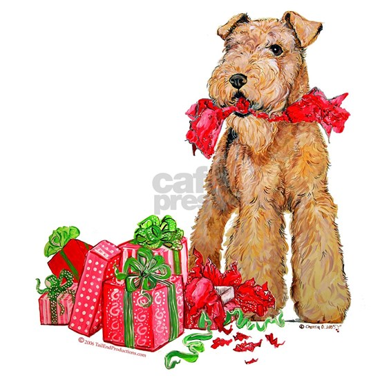 Airedale 11x11 Christmas