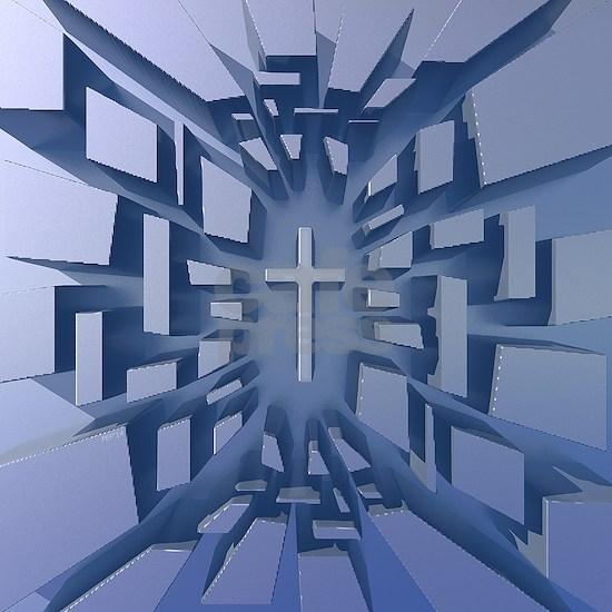 Abstract 3D Christian Cross