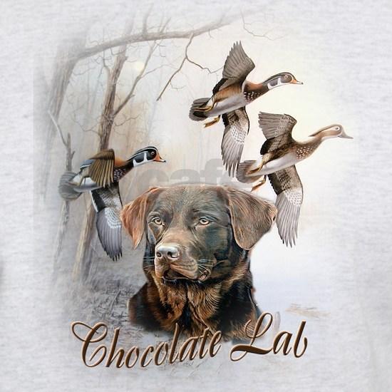 Chocolate Lab With Pheasants