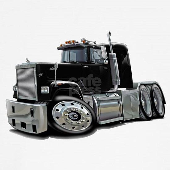 Mack Superliner Black Truck