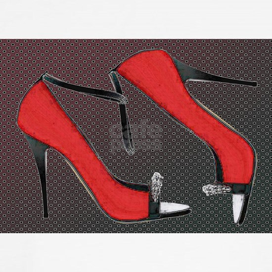 Raging Red Open Toed Stilettos