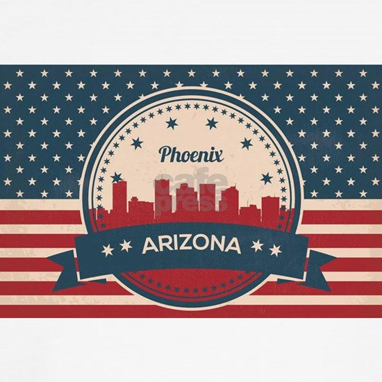 Retro Style Phoenix Arizona Skyline