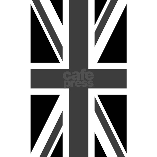 Union Jack Black White Area Rug