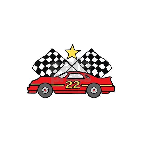 Checkered Flags Car