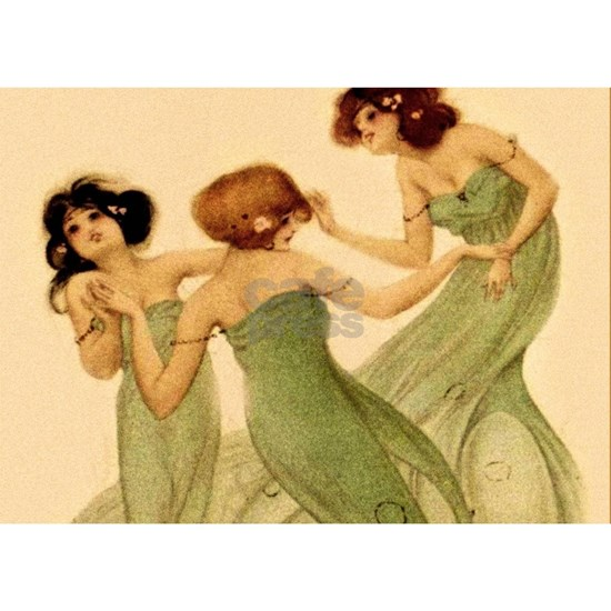Vintage French Art Deco Dancing Girls