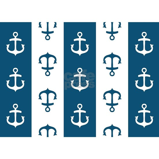 Blue and White striped Anchor
