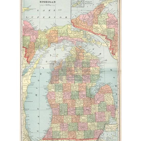 Vintage Map of Michigan (1901) 2