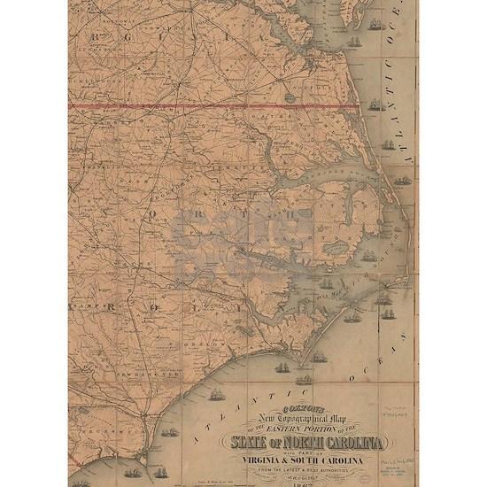 Vintage Map of Eastern North Carolina (1862) 2