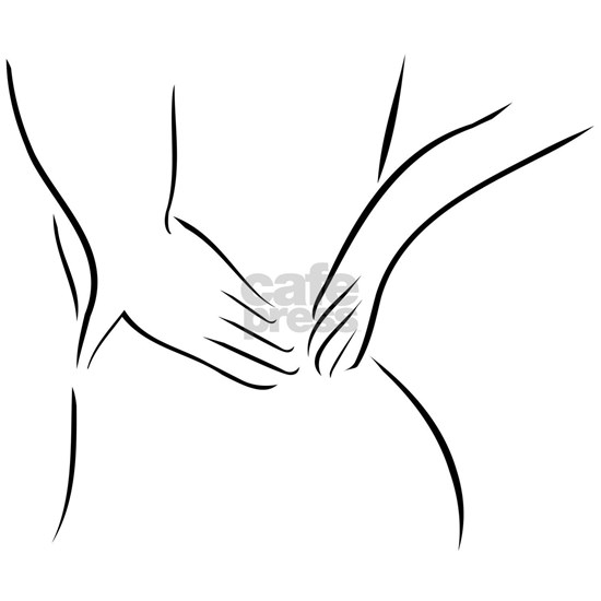 Abstract drawing of a person having backache