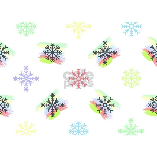 Colorful Christmas Snowflakes Winter Design