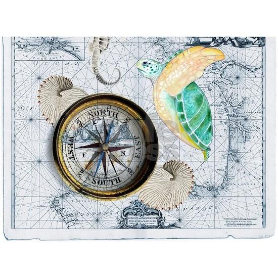 Sea Turtle Compass Map