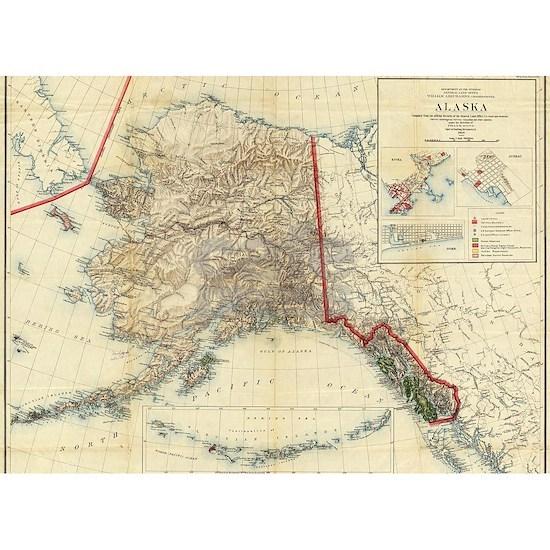 Vintage Map of Alaska (1906)
