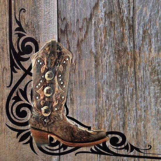 cowboy boots barnwood