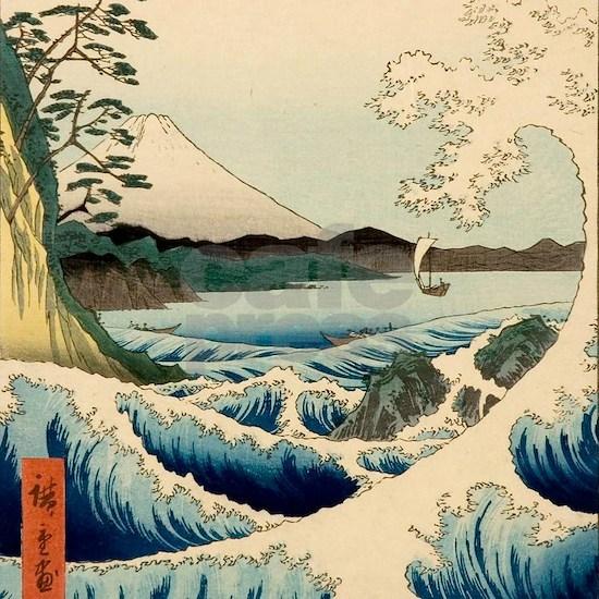 Japanese Vintage Art Sea of Satta Hiroshige