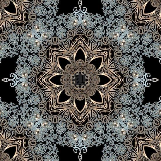 hipster bohemian silver mandala