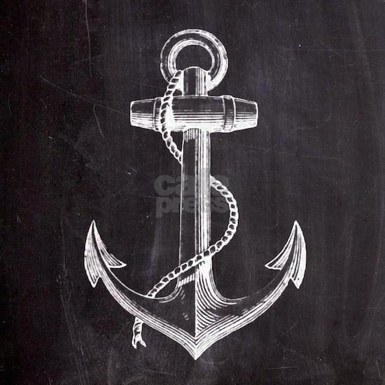 nautical rustic chalkboard anchor
