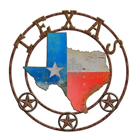 Texas Wrought Iron Barn Art