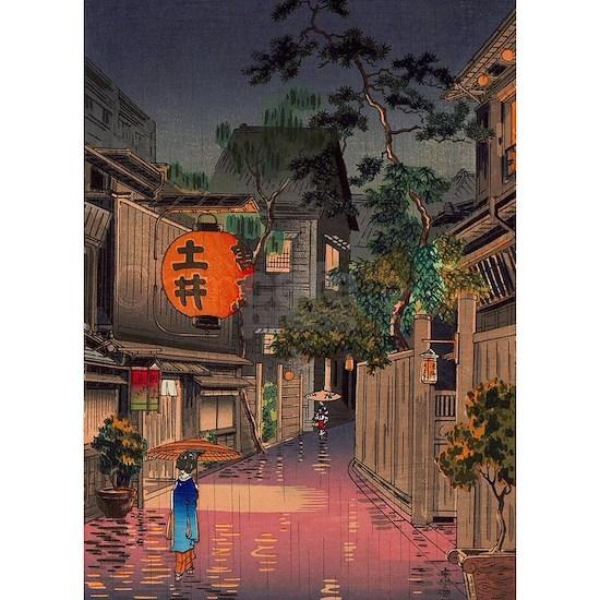 Night Street Rain