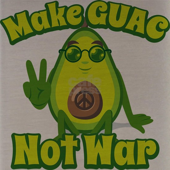 Emoji Avocado Make Guac not War