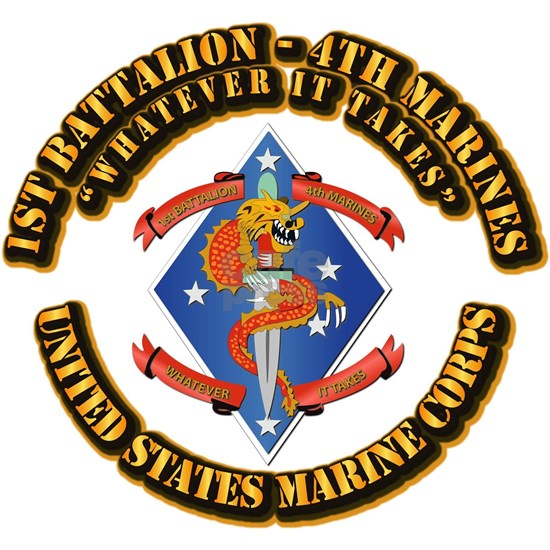 USMC - 1st Battalion - 4th Marines with Text