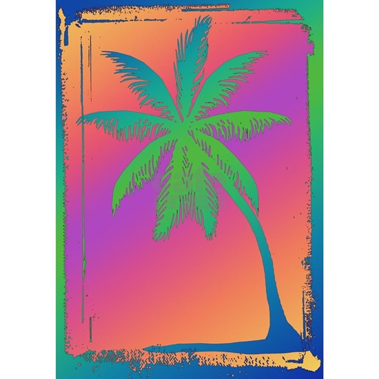 Psychedelic Palm Dree Silhouette