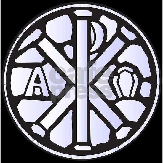 Alpha Omega Glass Window