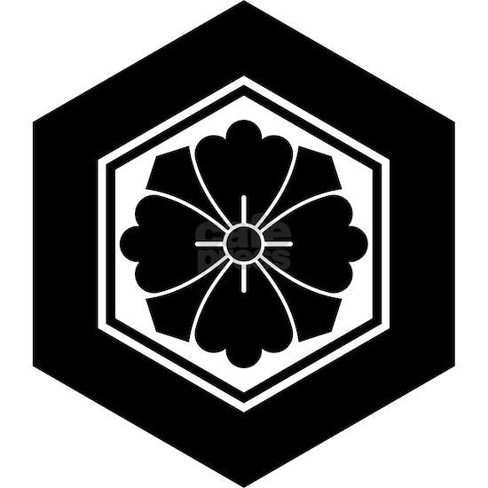 Square flower with Swords in tortoiseshell