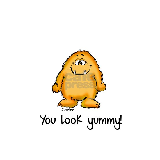 You look yummy - cute monster by send2smiles