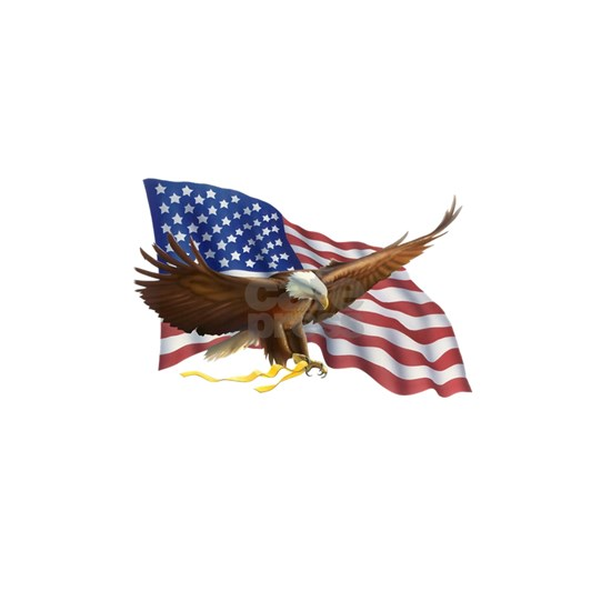 American Flag and Eagle