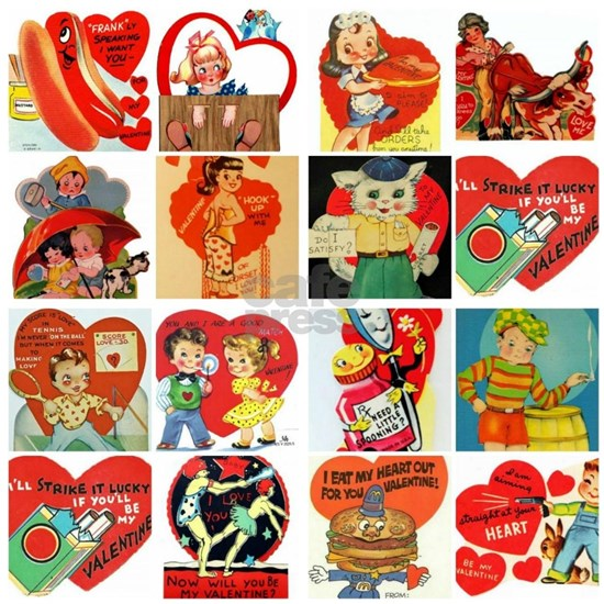 vintage valentines day cards feb