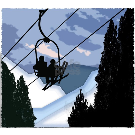 Chairlift Full of Skiers