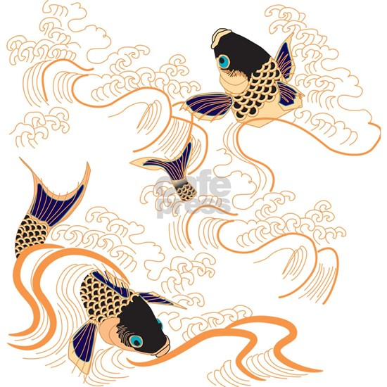 Koi - Fish - Tattoo - Asian - Japanese - Decoratio