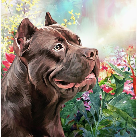 American Staffordshire Terrier Painting