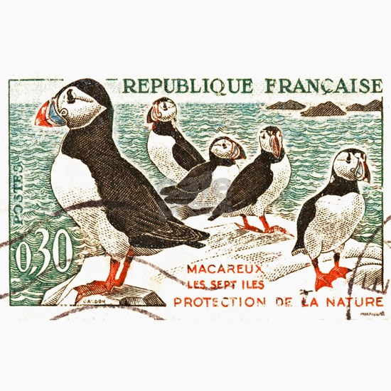 France Atlantic Puffin Stamp 1960
