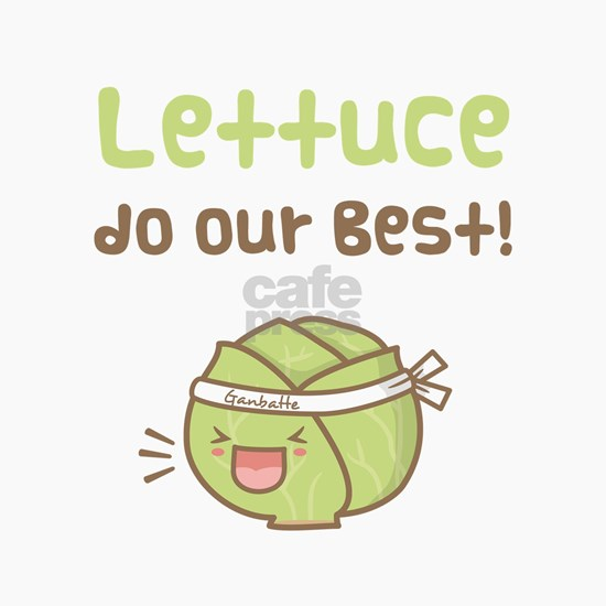 Kawaii Lettuce Do Our Best Vegetable Pun