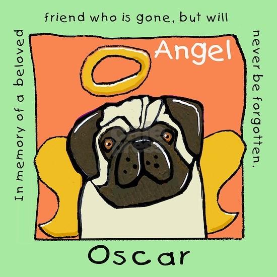 Angel Pug Memorial Oscar