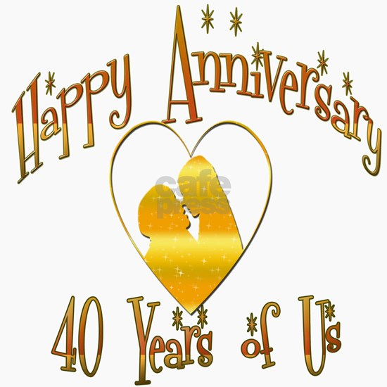 happy anniversary heart 40