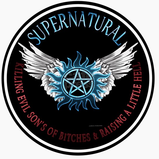 Supernatural  protection Symbal Wings Ring Patch 0
