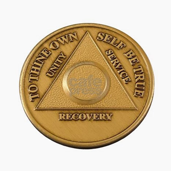 Alcoholics Anonymous Anniversary Chip