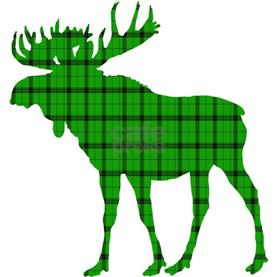 Moose: Pine Green Plaid