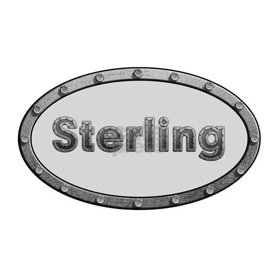 Sterling Metal Oval