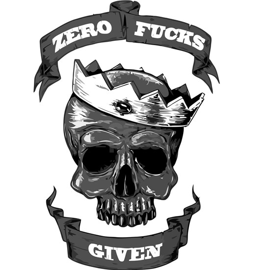 Zero fucks given skull shirt