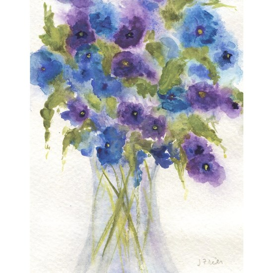 Blue Violet Pansy Flowers