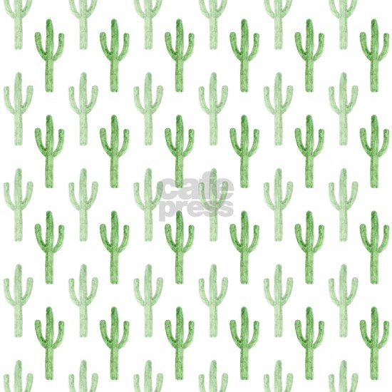 Cute Watercolor Cactus Pattern