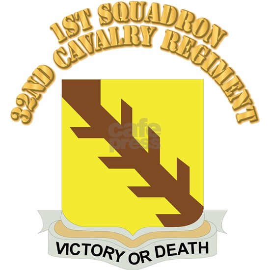 DUI - 1st Squadron,32nd Cavalry Regiment with Text