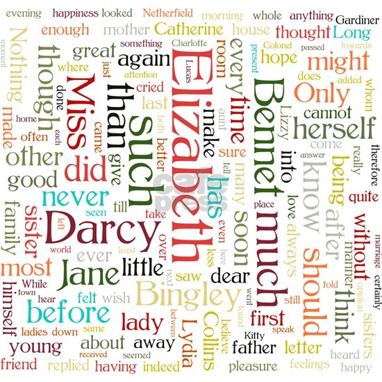 Pride & Prejudice Word Cloud